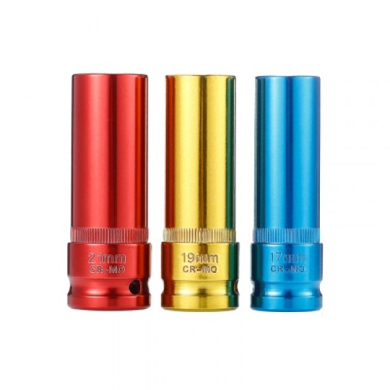 3pcs Alloy Wheel Nut Socket with Protective Sleeves